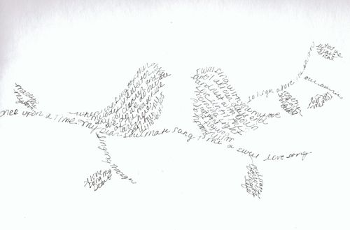 Birds silhouette journal