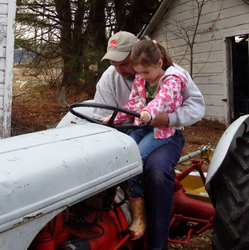 Learning to start the tractor, at 6