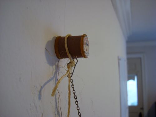 Hung by a spool