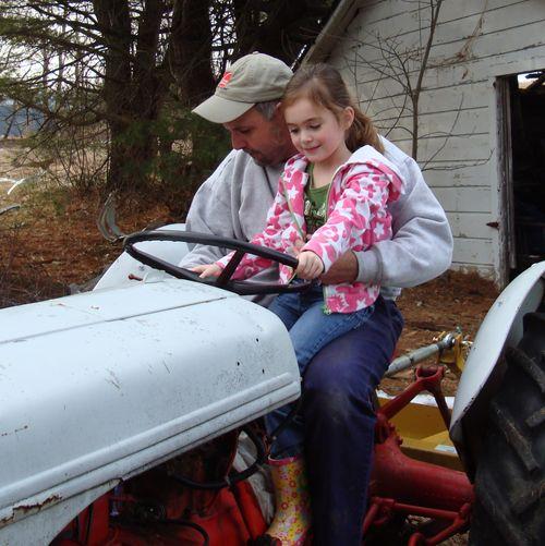 Tractor start smile