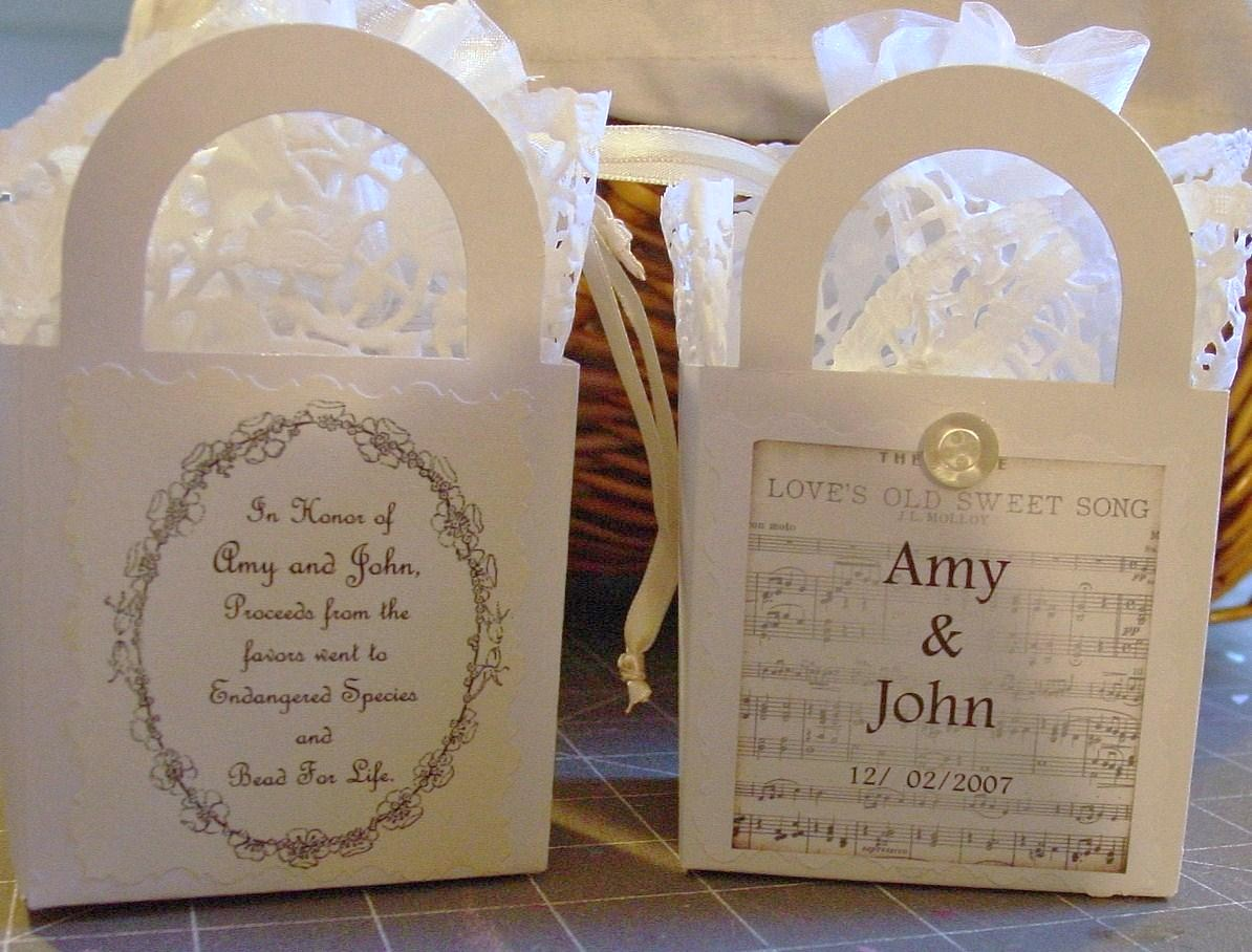 Beelieve: Wedding shower favors with thought